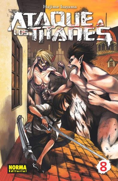 unademagiaporfavor-libro-comic-manga-abril-2014-norma-Ataque-a-los-titanes-8-Hajime-Isayama-portada